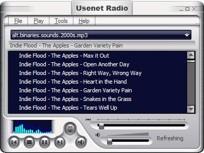 Screenshot of Usenet Radio